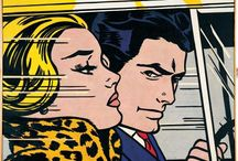 Pop art and comics / Art by Roy Lichtenstein and Andy Warhol, and works influenced by the pop art movement.