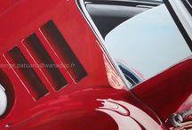 AU GARAGE / VOITURE/FERRARI 250 GTO/course /  PEINTURE Acrylique sur toile  60x60