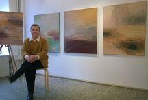 Näkymä näyttelystä 17.-29.3.2015 / Abstrakteja maisemia