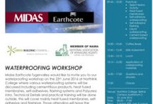 Wateproofing Workshop / Waterproofing Workshop.  Midas Earthcote Tygervalley would like to invite you to our Waterproofing Workshop on the 23rd June 2016 at Northlink College where various waterproofing systems will be discussed including cementitious products, heat fused membranes, self-adhesives, flashing systems and Polyurea introduction.  https://midaspaintstygervalley.co.za/waterproofing-workshop/