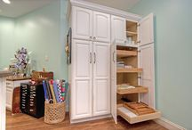 Craft Rooms (Entertaining Spaces) / A St. Louis basement now has side-by-side craft rooms, one for adults, the other for grandchildren.