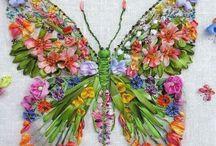 Farfalla in Silk ribbon
