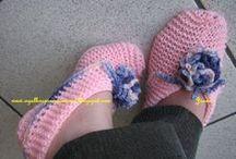 sapatilha de tricô