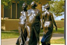 WSU Campus Sculptures / Wichita State outdoor sculptures. What's your favorite? / by Wichita State University Foundation