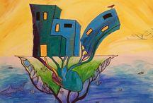 Akrill,paint,modern,abstract