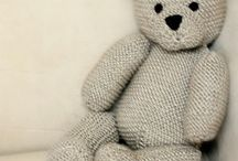 Knitted dolls and teddies