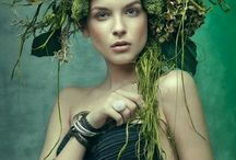 Floral Headdress / Floral designs and artistic creations to wear on your head