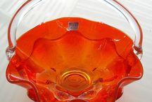 Orange Sizzle / Orange home decor, housewares, Art, Handmade