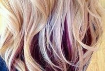 Blonde multi colour hair