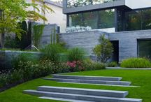Garten Stufen und Hang