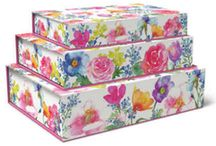 Decorative Nested Boxes / Beautiful boxes in small medium and large to tuck away trinkets and get organized beautifully!