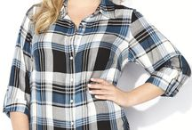 Mad About Plaid / Get your plus size plaid fix with this timeless pattern that can be casual, professional, or classy in sizes 14-32.