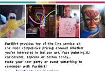 """Let us add a little """"PartiArt"""" to YOUR next event! :)"""