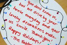 Jul, pynt, kort, gaver, ideer