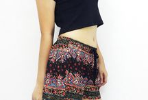 Shorts / Our shorts are an unique bohemian style made from a top quality rayon fabric come with vary printed even the solid color. The shorts are a mini make you are sexy for a beach, travel and in any occasion.  Shorts are the comfortable pants come with decorate rope.