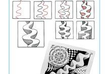 Zentangle / Zentanglemuster zeichnen