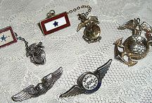 STERLING LOT OF MILITARY PINS-CHECK IT OUT ON E-BAY