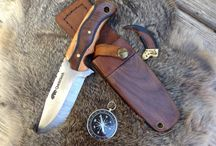 Custom handmade bushcraft knives