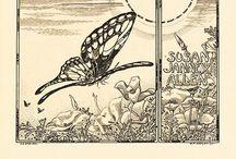 Exlibris / Bookplates - butterflies