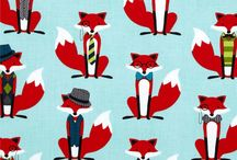 Swatch Book: Foxes & Owls / #MadeWithFabric with #foxes