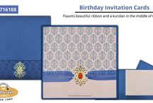 BIRTHDAY PARTY INVITATIONS / Madhurash Cards : Elegant Collection Of Birthday Party Invitations.  View More @ https://goo.gl/yBucvF