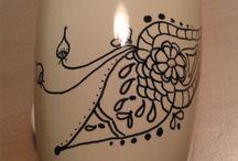 doodling on porcelain