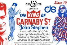 Art & Hue presents The King of Carnaby Street John Stephen / Discover the pop art collection inspired by the founder of Carnaby Street as the heart of Swinging London in the 1960s. http://artandhue.com/carnaby