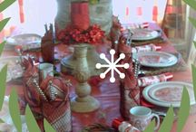 Christmas & WinterTablescapes / Some of my favorite Christmas and Winter Table setting.  Including my own.