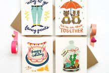 Hand printed cards