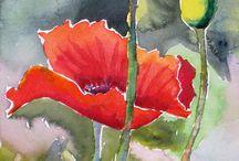 bloemen aquarellleren