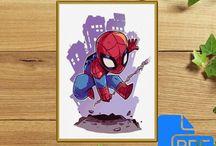Marvel Pattern / Deadpool Cross Stitch Pattern, Marvel Cross Stitch Pattern, Spiderman Cross Stitch Pattern, Superheroes Cross Stitch Pattern