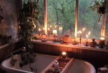 Bathroom with forest theme