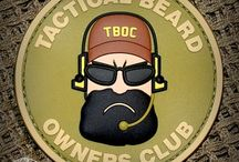 TBOC Logo Patches Full Color / Theses are the members only patches for the Tactical Beard Owners Club.