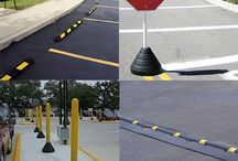 Parking Lot Safety Products / RubberForm has developed and engineered Parking Lot & Road Safety products for the parking lot and private road.