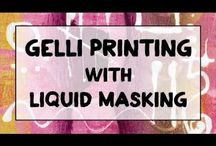 Art - Gelli Printing / by Just My Little Bit