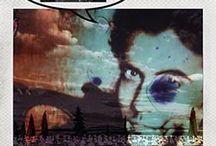 """GLOBAL ARTE: 8 APELLIDOS GRANAINOS-MIGUEL JOSÉ ÁVALOS / Fotografías tomadas con una Polaroid SX-70 usando película de color Impossible Project. Revelado artesanal con acelerado mediante técnica de """"agua ardiente"""". Textos con tipografía plúmbica (letterpress)."""