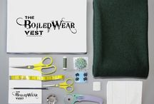 The Do It Yourself BoiledWear VEST / The BoiledWear Vest is a DIY design kit that allows you to create a high-fashion, high-quality 100% wool vest. Our product guarantees a perfect fit for a timeless addition to your wardrobe.