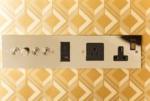 Hotel Electrical Accessories / Switch plates and card switches designed and manufactured for luxury hotels.