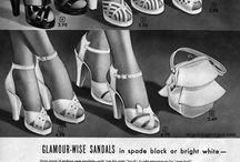 Vintage / Retro Shoes / Shoe Styles of the 30s, 1940s - 1950s women