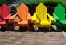 Summer Colors by DutchCrafters Amish Furniture / Bring some fun, bright Summer colors into your outdoor space or indoor with DutchCrafters Amish made furniture and décor.