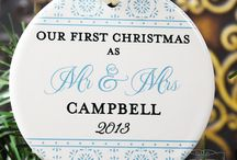 Christmas Ornaments 2014 Collection / Personalized ornaments, stationery, keepsakes