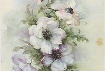 Virágok rajz, festmény
