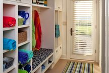 Lake house lockers and laundry / by Mindy Dawes