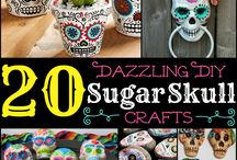 CRAFTS: Sugar Skulls /  CROSS STITCH PATTERNS, CROCHET PATTERNS & BEADING PATTERNS: