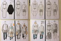 Fashion Sketches by Alina Timar / Fashion sketches. Photoshop. Handmade. Sketchbooks.