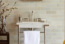 Subway Tile Ideas / Looks from classic subway tile collections as well as designs that offer a fresh twist to the standard subway tile look.