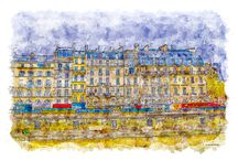 Aquarelle Style / Travel, cities and nature aquarelle style prints collection.