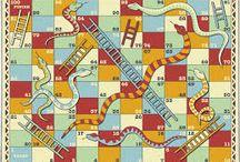 """Brettspill ol /Table games. Historiske / Eksempler på brettspill og """"table games""""."""