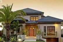 modern kertes házak