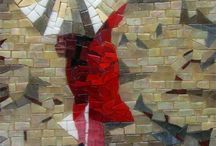 mosaico e vitral